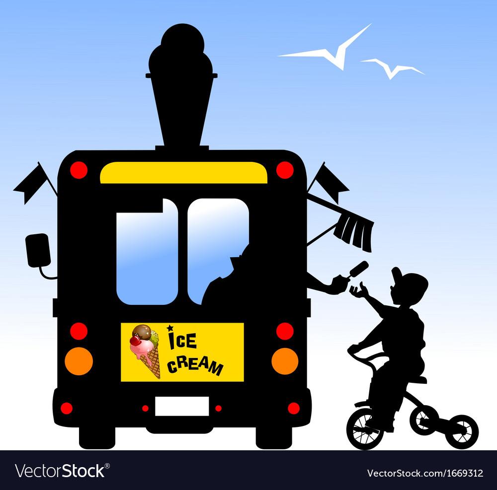 Ice cream van vector | Price: 1 Credit (USD $1)