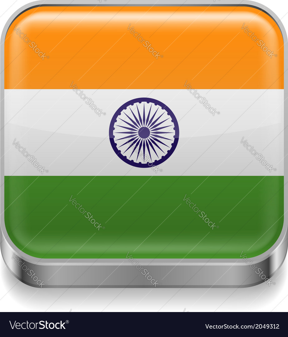 Metal icon of india vector | Price: 1 Credit (USD $1)
