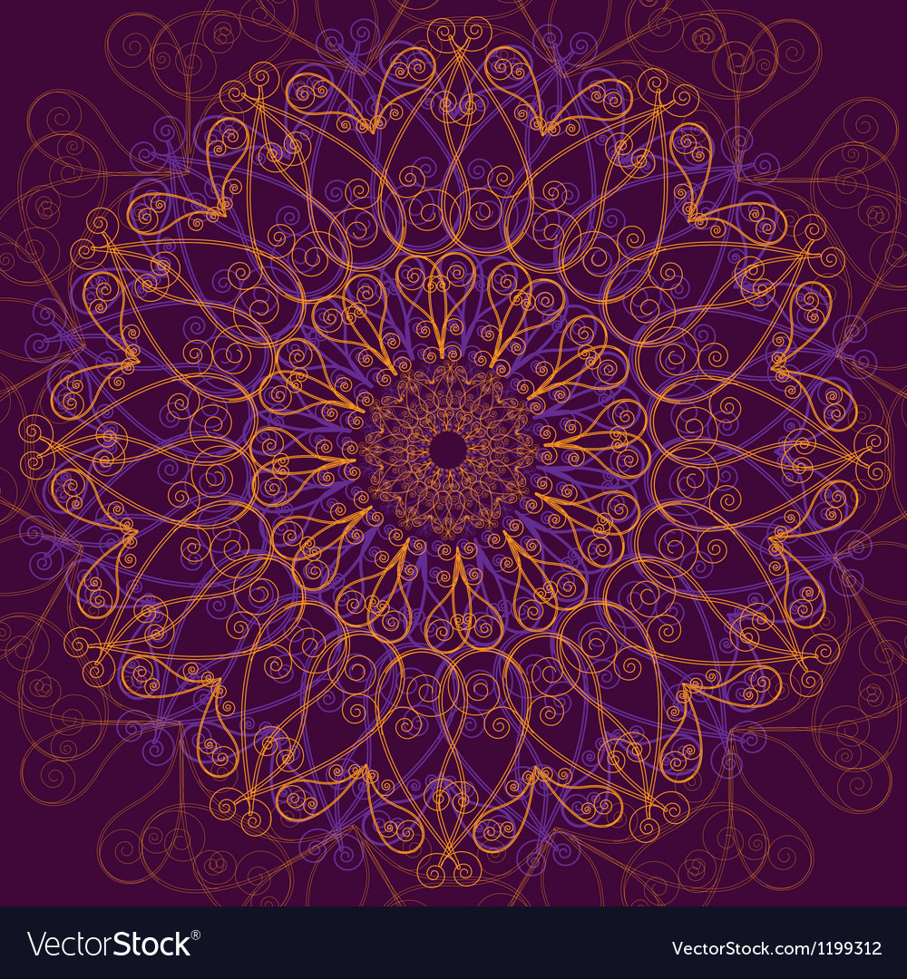Ornamental round lace circle ornament vector   Price: 1 Credit (USD $1)
