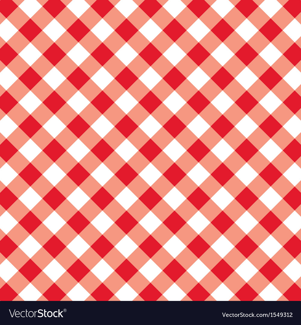 Pattern seamless gingham tablecloth vector | Price: 1 Credit (USD $1)
