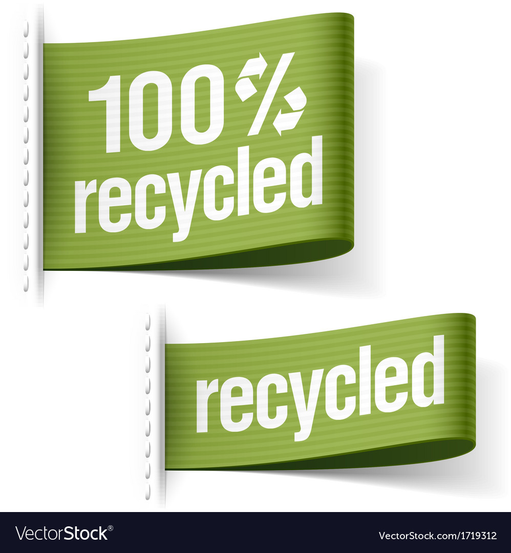 Recycled product labels vector | Price: 1 Credit (USD $1)