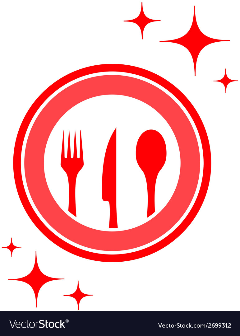 Restaurant icon with kitchen ware vector | Price: 1 Credit (USD $1)