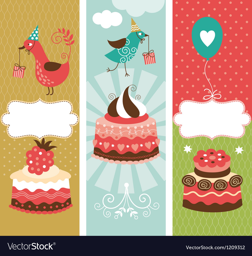 Set of holiday vertical banners vector | Price: 3 Credit (USD $3)