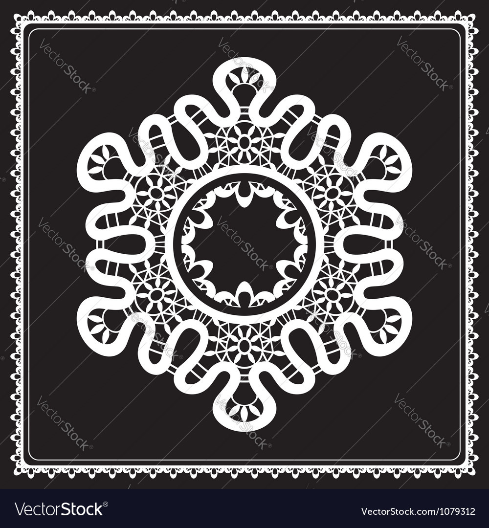 White lace snowflake vector | Price: 1 Credit (USD $1)