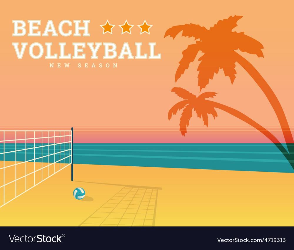 Beach volleyball season vector   Price: 1 Credit (USD $1)