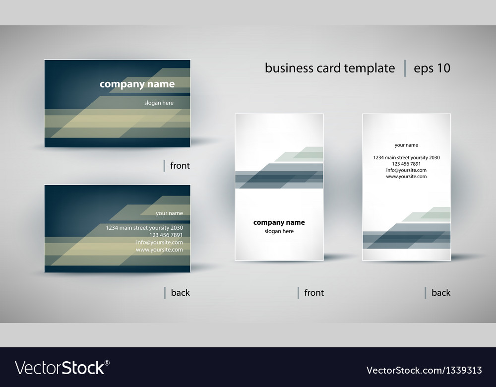 Business card template set vector | Price: 1 Credit (USD $1)