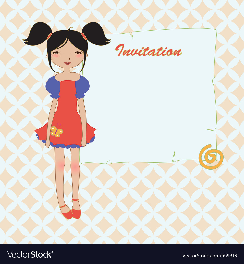 Cool invitation frame vector | Price: 1 Credit (USD $1)