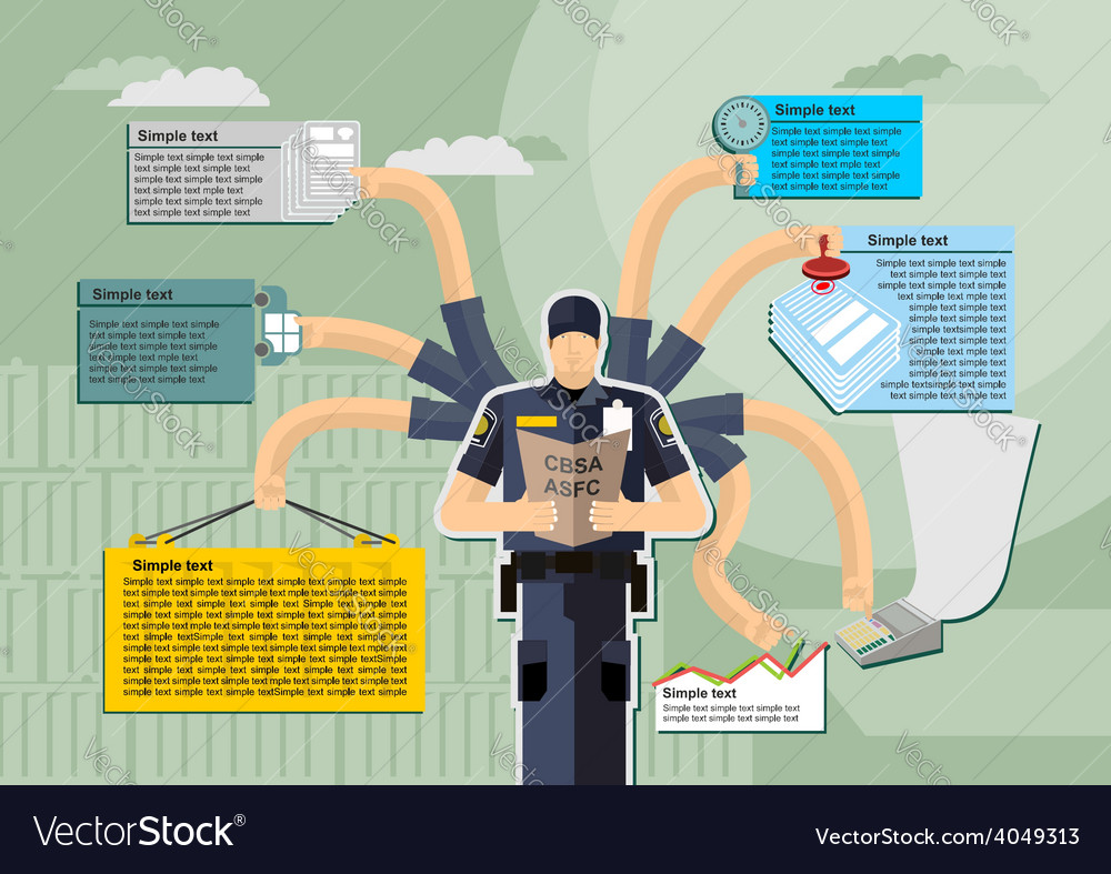Infographic canada border services agency cbsa vector | Price: 1 Credit (USD $1)