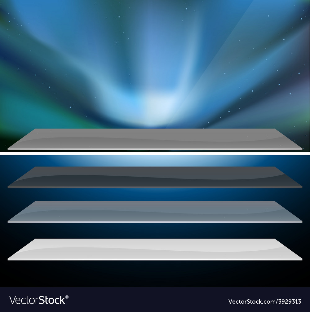 Nothern blue aurora design vector | Price: 1 Credit (USD $1)