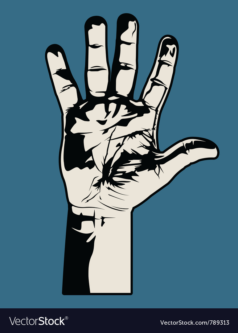Open hand graphic vector | Price: 1 Credit (USD $1)
