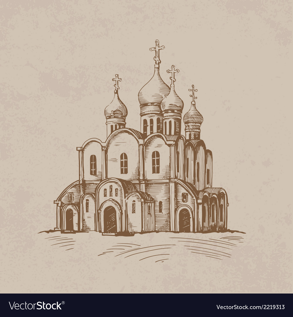 Orthodox church vector | Price: 1 Credit (USD $1)