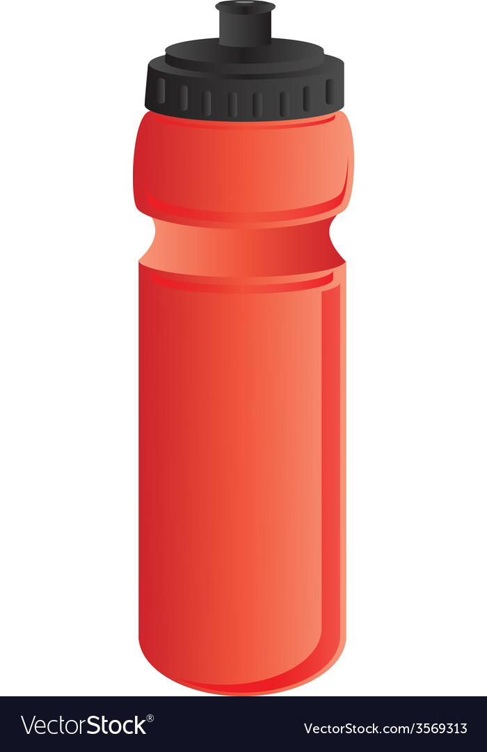 Red sports water bottle vector   Price: 1 Credit (USD $1)
