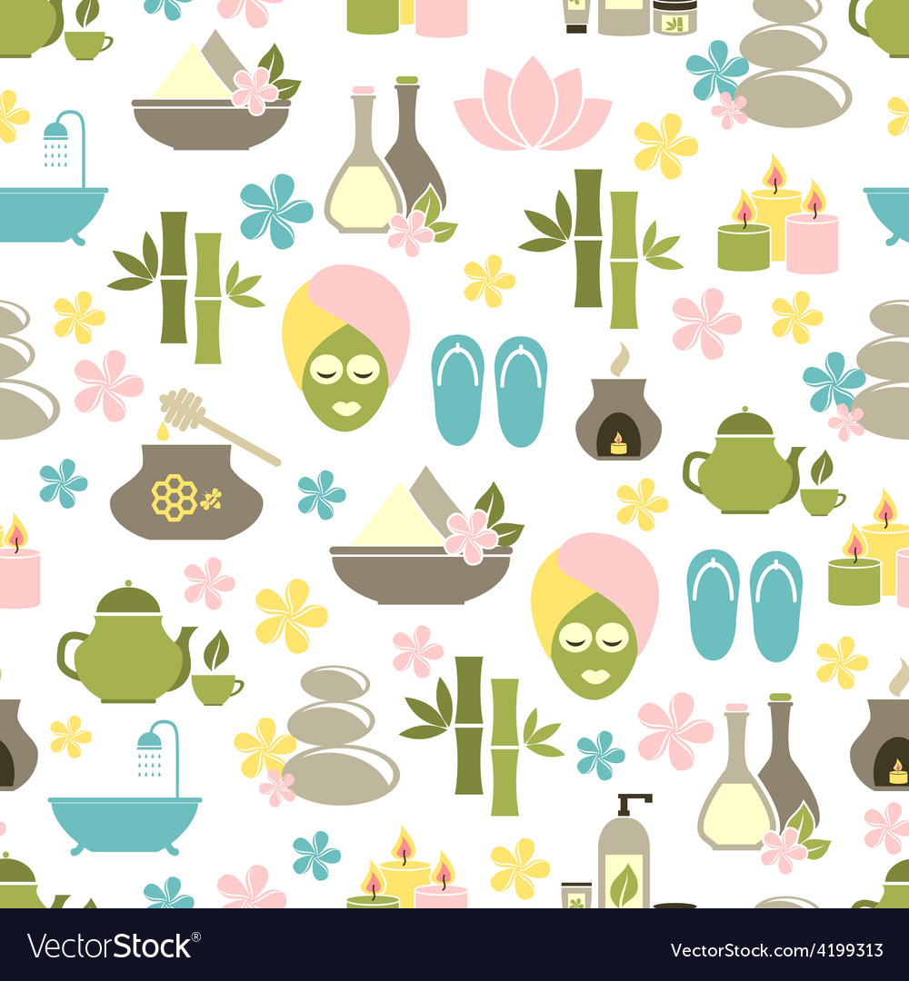 Seamless pattern from spa of elements vector | Price: 1 Credit (USD $1)