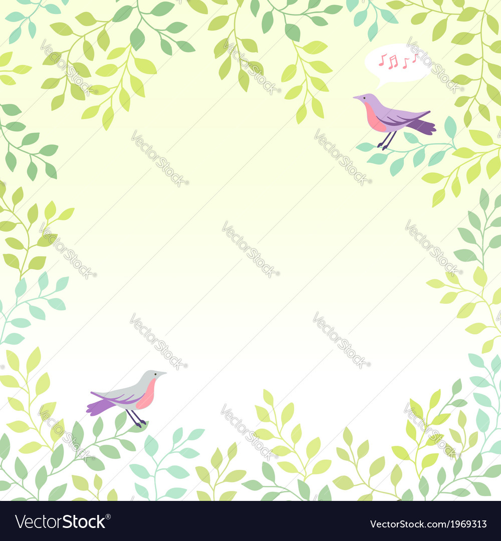 Sing bird spring vector | Price: 1 Credit (USD $1)