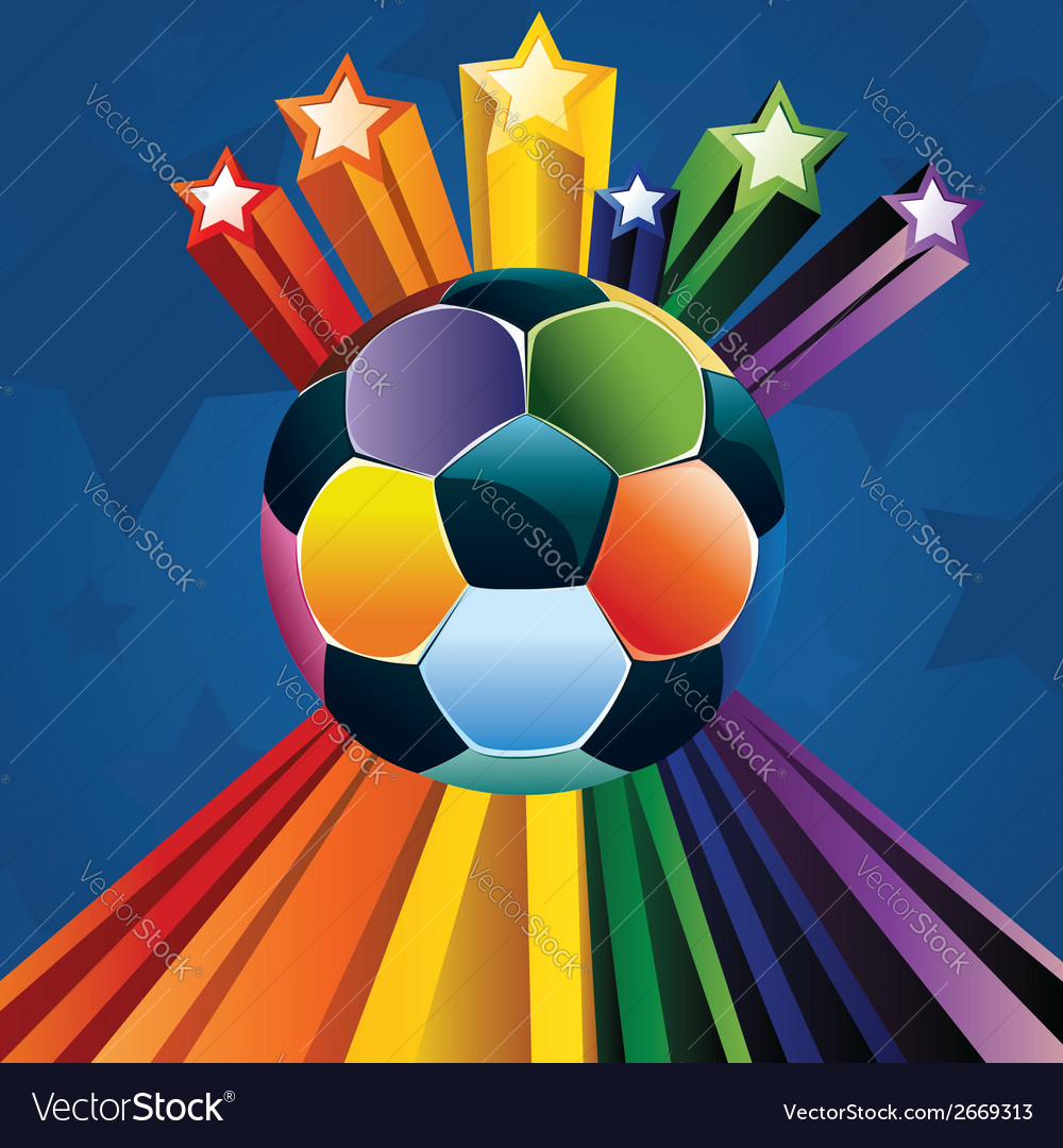 Soccer ball with stars4 vector | Price: 1 Credit (USD $1)