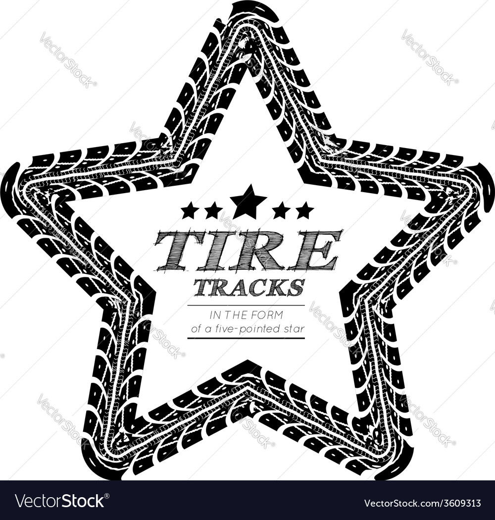 Tire tracks frame vector | Price: 1 Credit (USD $1)