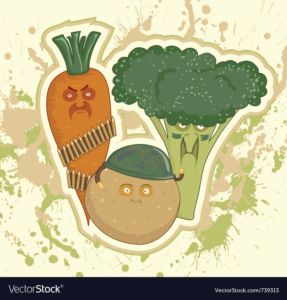 Vegetable bandits vector | Price: 1 Credit (USD $1)
