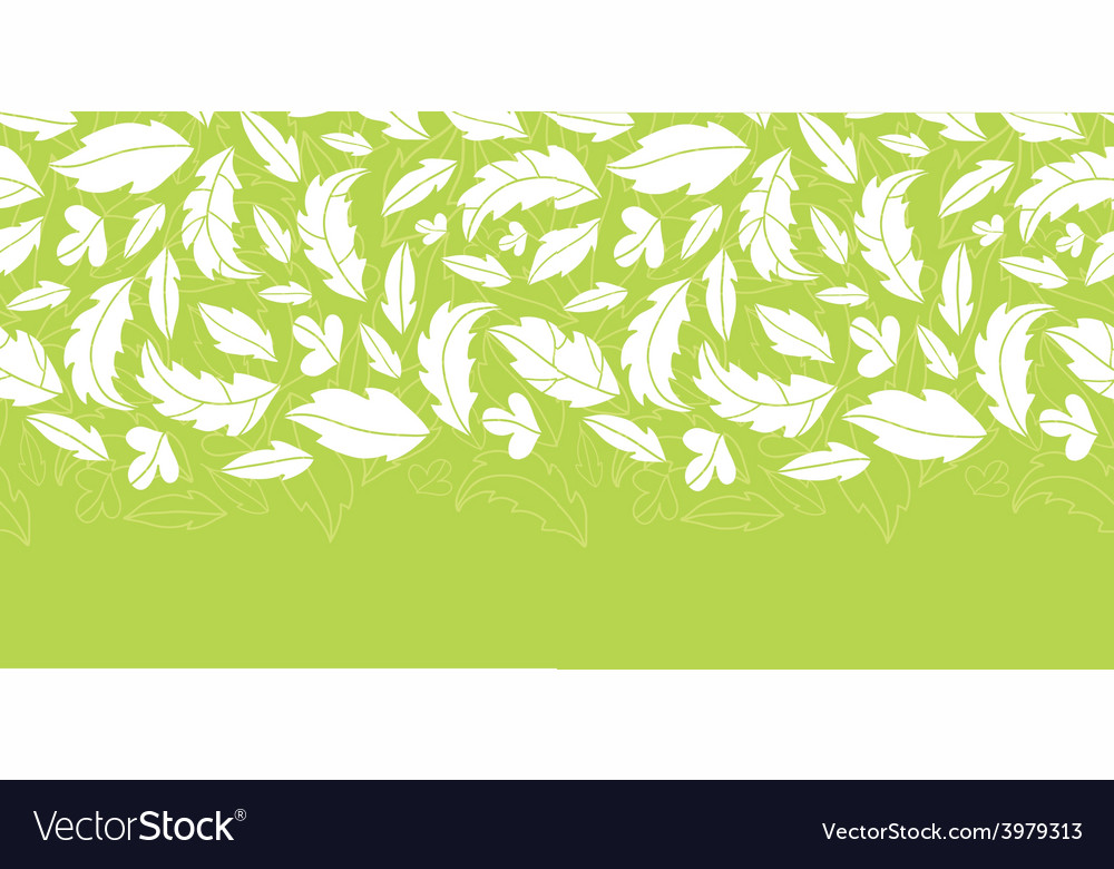 White on green leaves silhouettes horizontal vector | Price: 1 Credit (USD $1)