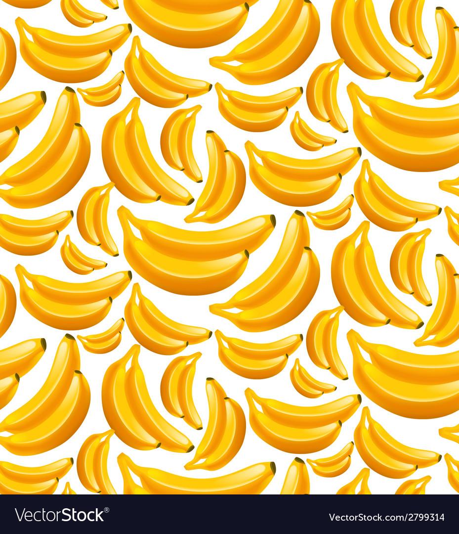 Banana seamless pattern vector | Price: 1 Credit (USD $1)