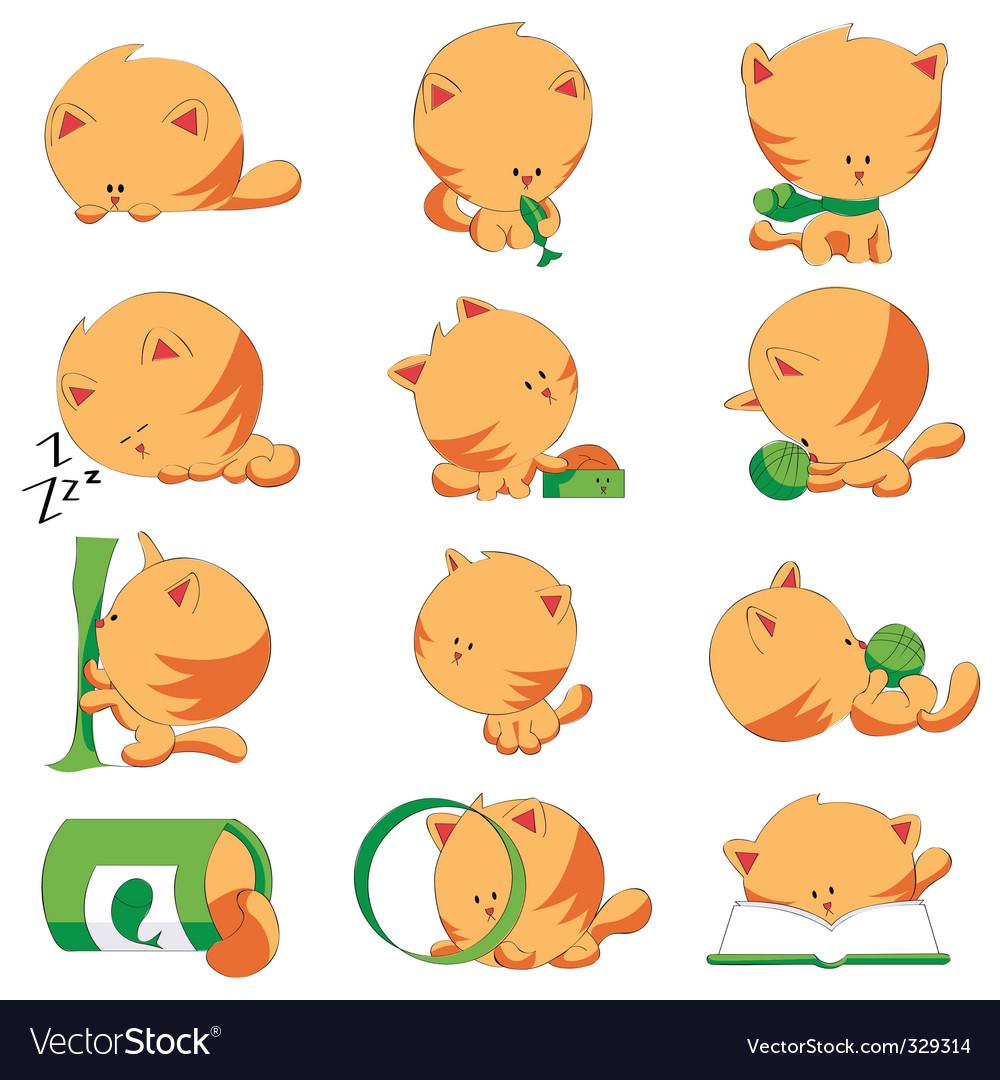 Cute cats vector | Price: 1 Credit (USD $1)