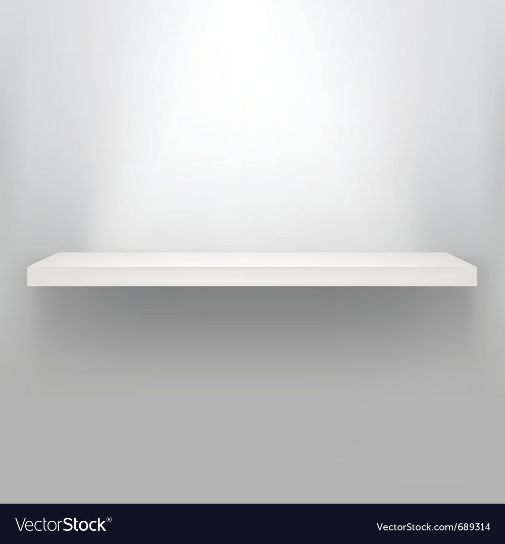 Empty shelf for exhibit vector | Price: 1 Credit (USD $1)