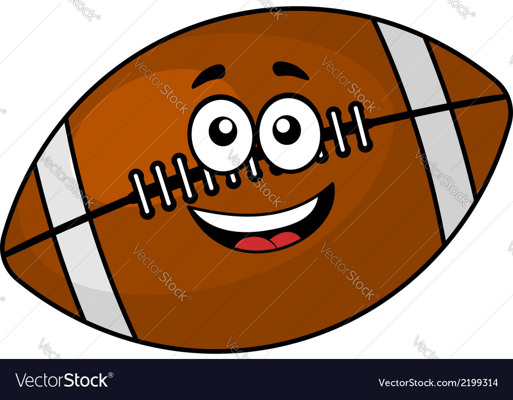 Fun happy football or rugby ball vector | Price: 1 Credit (USD $1)
