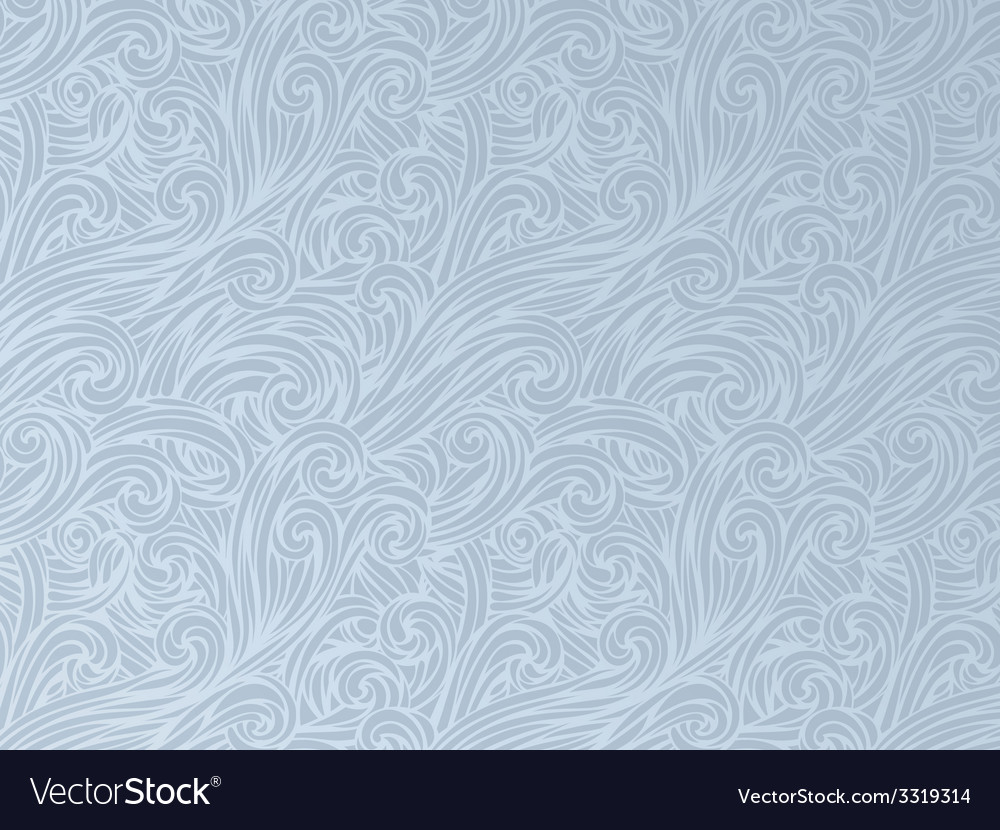Hand-drawn waves background vector | Price: 1 Credit (USD $1)