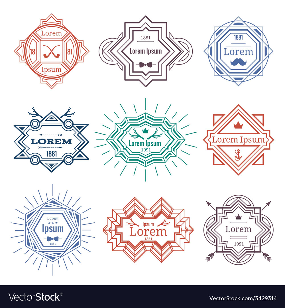 Hipster modern emblems vector | Price: 1 Credit (USD $1)