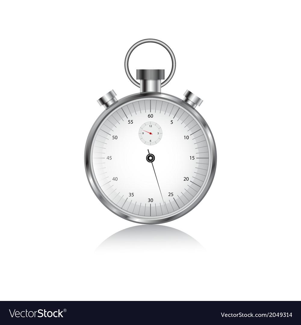 Metal stopwach vector | Price: 1 Credit (USD $1)