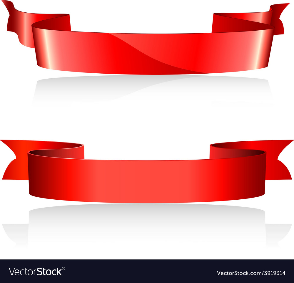 Red banners vector   Price: 1 Credit (USD $1)