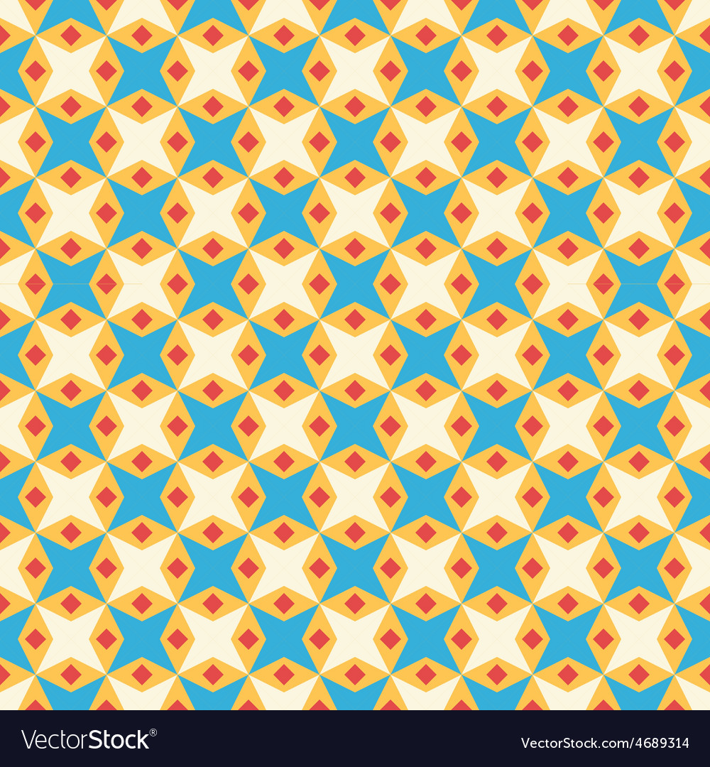 Retro kid seamless pattern endless texture vector | Price: 1 Credit (USD $1)