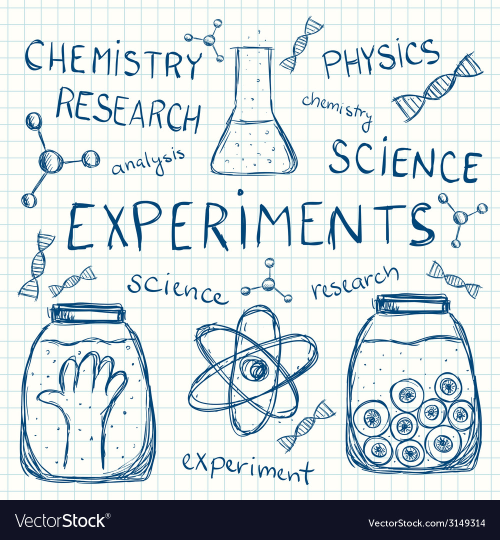 Sciientific experiments on squared paper vector | Price: 1 Credit (USD $1)