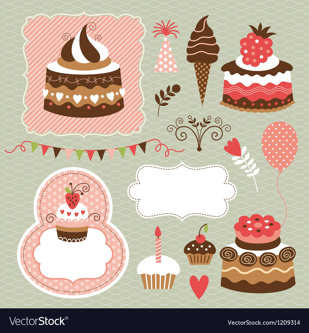 Set of holiday elements vector   Price: 1 Credit (USD $1)