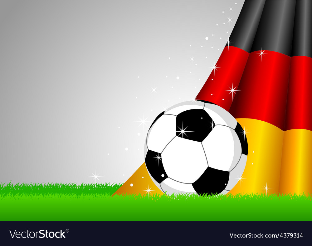 Soccer and nation flag vector | Price: 1 Credit (USD $1)