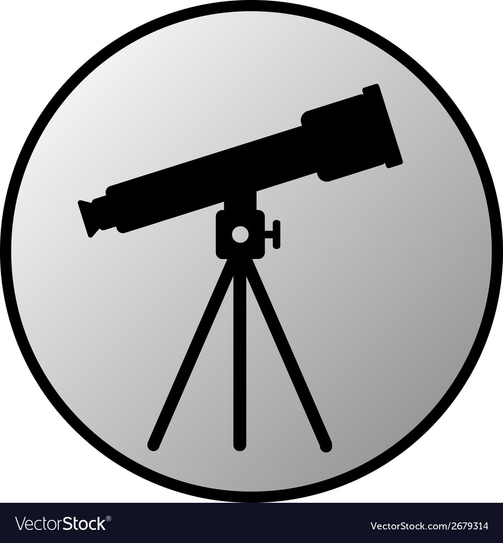 Telescope button vector | Price: 1 Credit (USD $1)