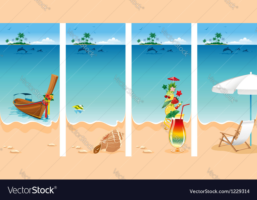 Vacation set vector   Price: 3 Credit (USD $3)