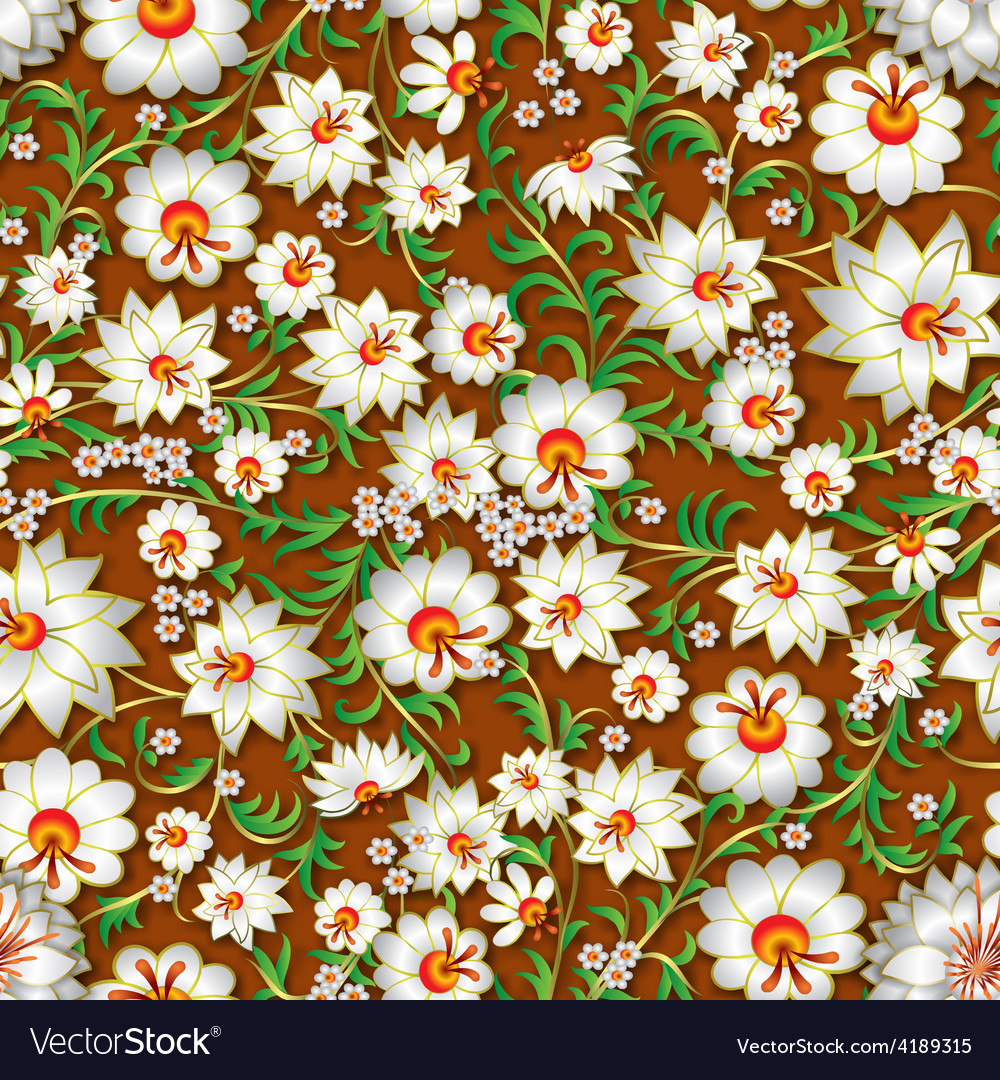 Abstract white seamless floral ornament and vector | Price: 1 Credit (USD $1)