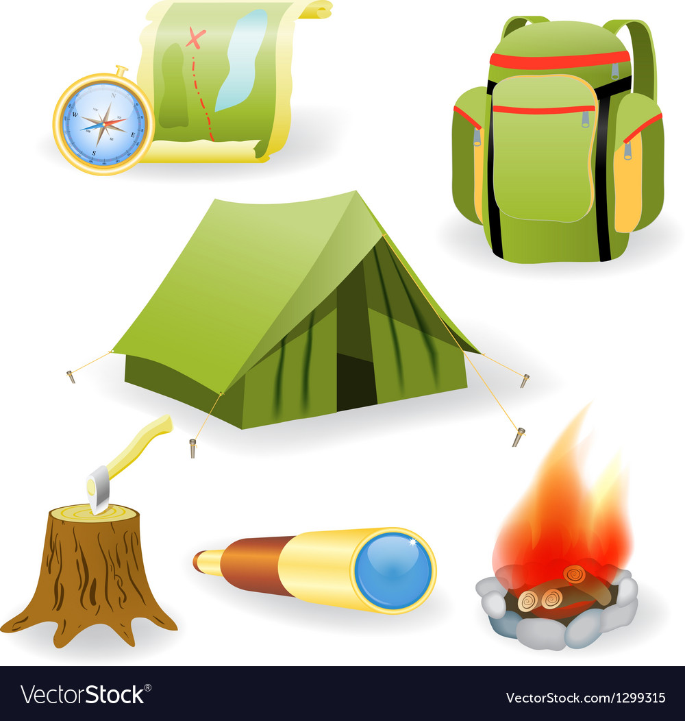 Camping collection vector | Price: 1 Credit (USD $1)