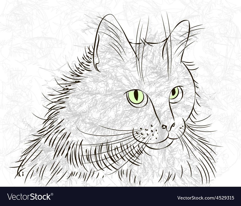 Cat ink vector | Price: 1 Credit (USD $1)