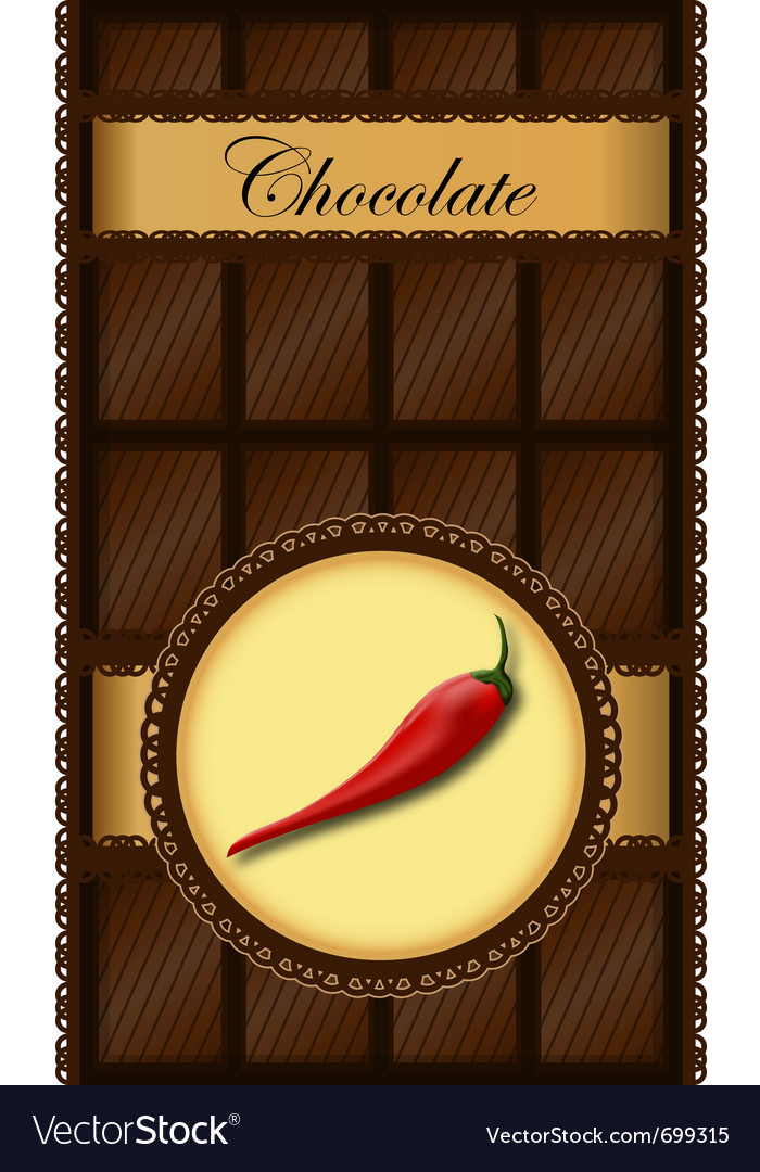 Chili chocolate bar vector | Price: 1 Credit (USD $1)