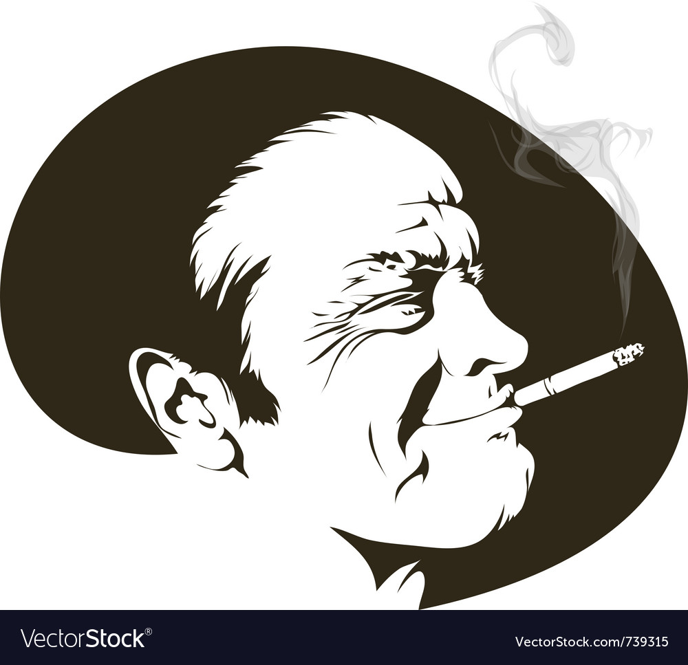 Cigarette smoker vector | Price: 1 Credit (USD $1)
