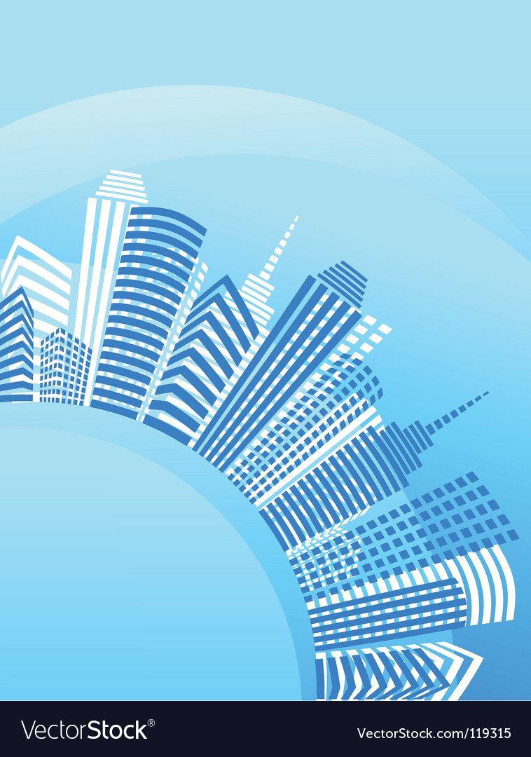 City real estate background vector | Price: 1 Credit (USD $1)