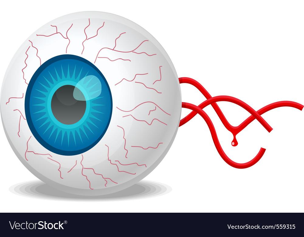 Detached eyeball vector | Price: 1 Credit (USD $1)