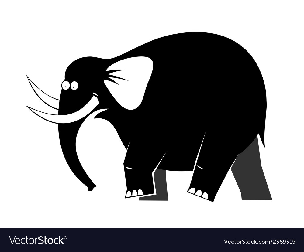 Elephant moving vector | Price: 1 Credit (USD $1)