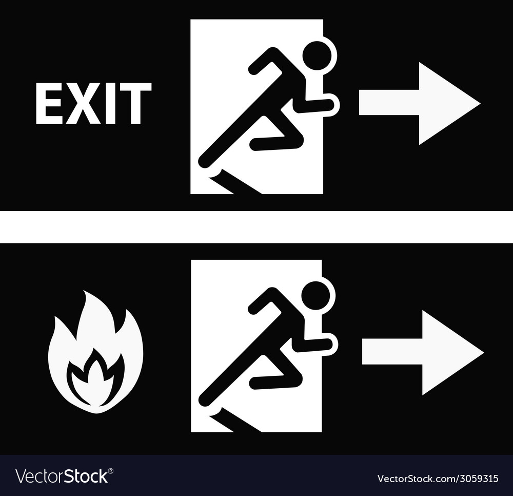 Emergency fire exit door vector | Price: 1 Credit (USD $1)