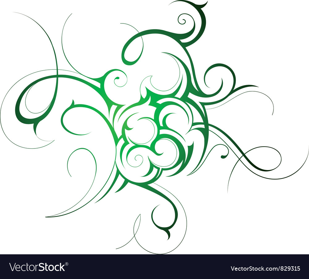 Fine swirl tattoo vector | Price: 1 Credit (USD $1)