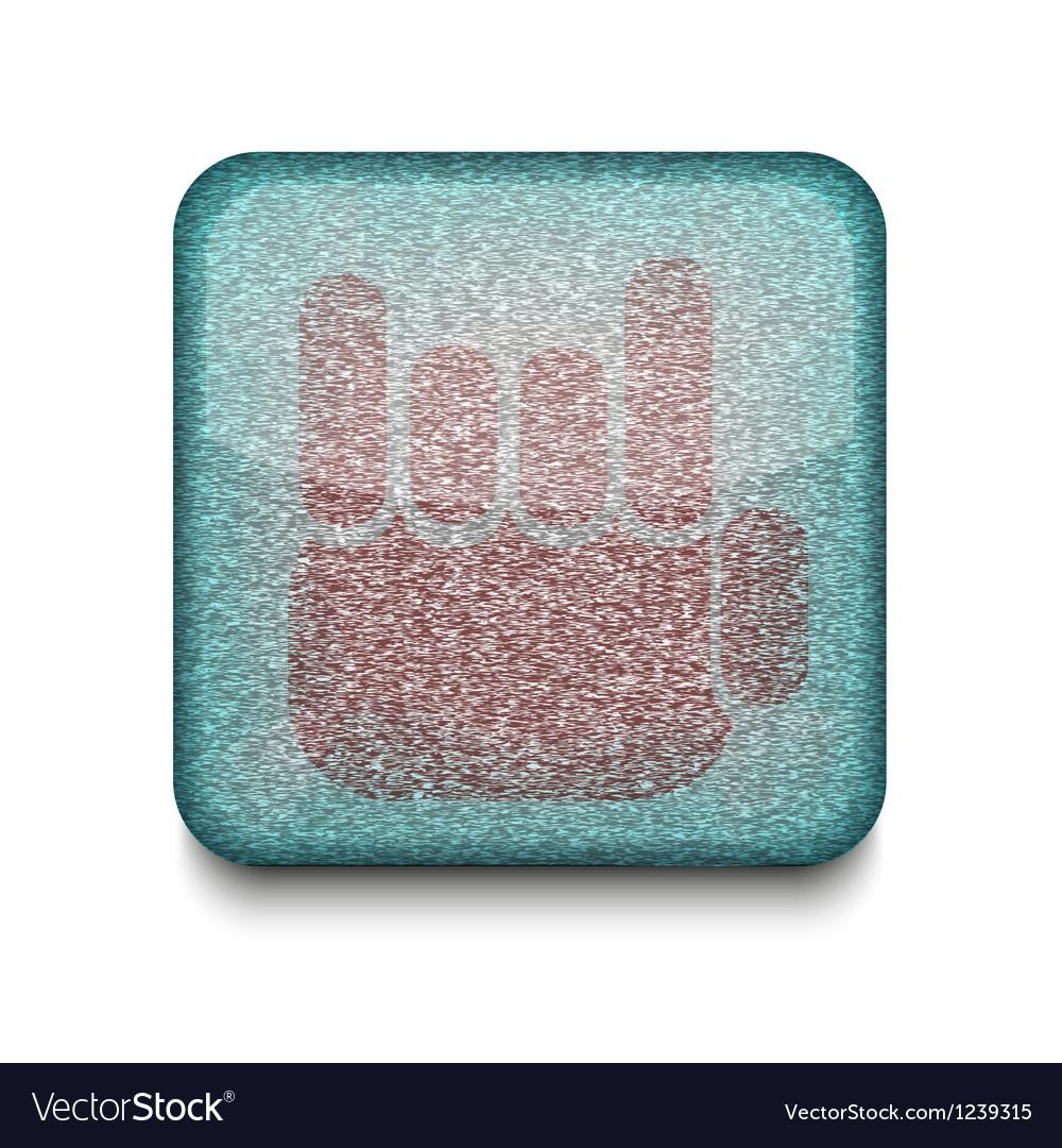 Fingers fan icon vector | Price: 1 Credit (USD $1)
