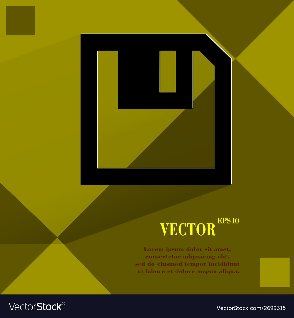 Floppy disk flat modern web design on a flat vector | Price: 1 Credit (USD $1)