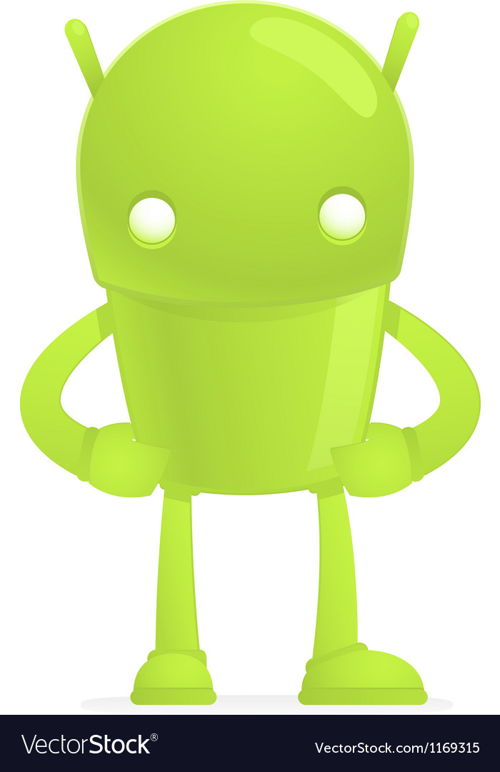 Funny cartoon android vector | Price: 3 Credit (USD $3)