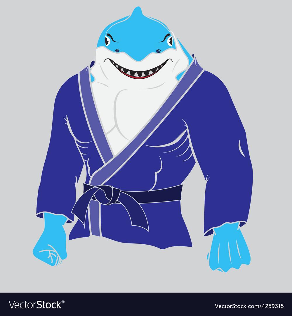 Judo man sharkeps 10 vector | Price: 1 Credit (USD $1)